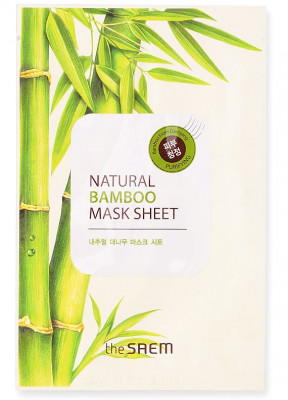 Маска тканевая с экстрактом бамбука THE SAEM Natural Bamboo Mask Sheet 21мл: фото