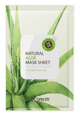 Маска тканевая с экстрактом алоэ вера THE SAEM Natural Aloe Mask Sheet 21мл: фото