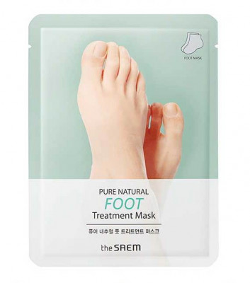 Маска для ног THE SAEM PURE NATURAL Foot Treatment Mask 8г*2: фото