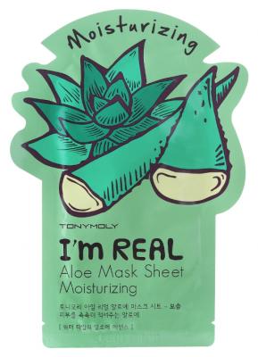 Маска с экстрактом алоэ Tony Moly I'm Aloe Mask Sheet 21 мл: фото