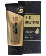Маска-пленка с коллоидным золотом и муцином улитки FarmStay 24K Gold Snail Peel Off Pack 100г: фото