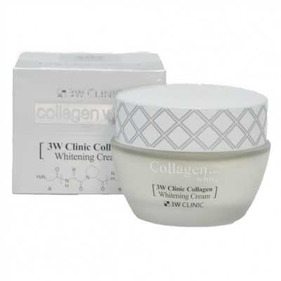 Крем для лица осветляющий с коллагеном 3W CLINIC Collagen Whitening Cream: фото