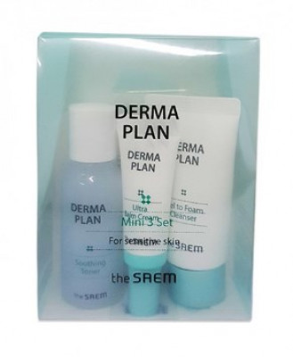 Набор для лица восстанавливающий THE SAEM Derma Plan Mini 3 Set: фото