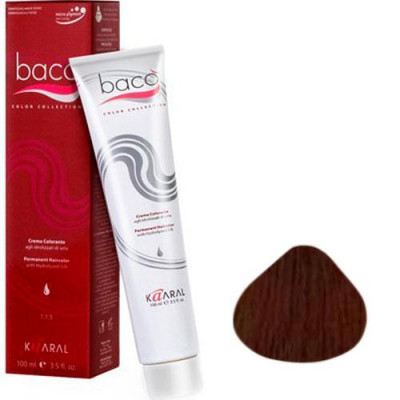 Cтойкая крем-краска для волос с гидролизатами шелка Baco Color Collection Медно-фиолетовый каштан B 4.42 100 мл: фото