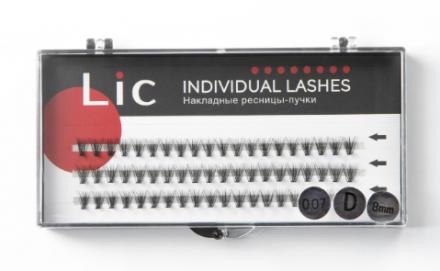 Ресницы-пучки накладные Lic Individual Lashes 8 mm: фото
