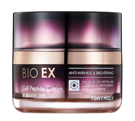 Антивозрастной крем для лица с пептидами TONY MOLY BIO EX Cell Peptide Cream 60мл: фото