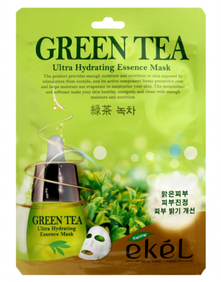Тканевая маска для лица с экстрактом зеленого чая EKEL Green Tea Ultra Hydrating Essence Mask 25г: фото