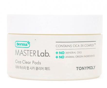 Очищающие диски с экстрактом центеллы азиатской TONY MOLY Derma MASTER Lab. Cica Clear Pads 80шт: фото
