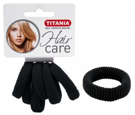 Резинки для волос 3,5см Titania черные 6шт: фото