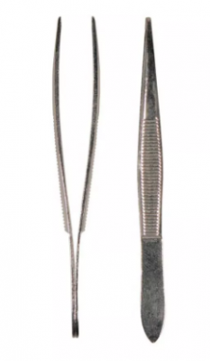 Пинцет острый никелированный TITANIA: фото